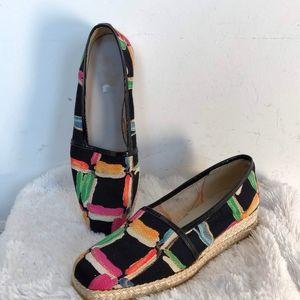 Fun Colorful Stuart Weitzman Espadrilles Shoes 7.5